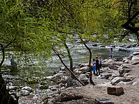 Fluss Passer in Meran-Merano, Bozen &ndash; S&uuml;dtirol, Italien<br /> river Passer, Meran-Merano, province Bozen-South Tyrol, Italy