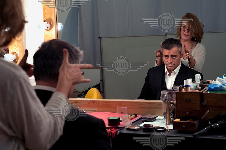 Actor Matt LeBlanc in make up before a publicity shoot for his new TV show Episodes, in London.