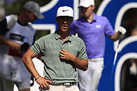 Thorbjorn Olesen (DEN) on the 16th tee during the final round of the DP World Tour Championship, Jumeirah Golf Estates, Dubai, United Arab Emirates. 18/11/2018<br /> Picture: Golffile | Fran Caffrey<br /> <br /> <br /> All photo usage must carry mandatory copyright credit (© Golffile | Fran Caffrey)