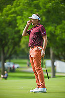 Ian Poulter (GBR) reacts to his putt on 2 during round 2 of the 2019 Charles Schwab Challenge, Colonial Country Club, Ft. Worth, Texas,  USA. 5/24/2019.<br /> Picture: Golffile   Ken Murray<br /> <br /> All photo usage must carry mandatory copyright credit (© Golffile   Ken Murray)