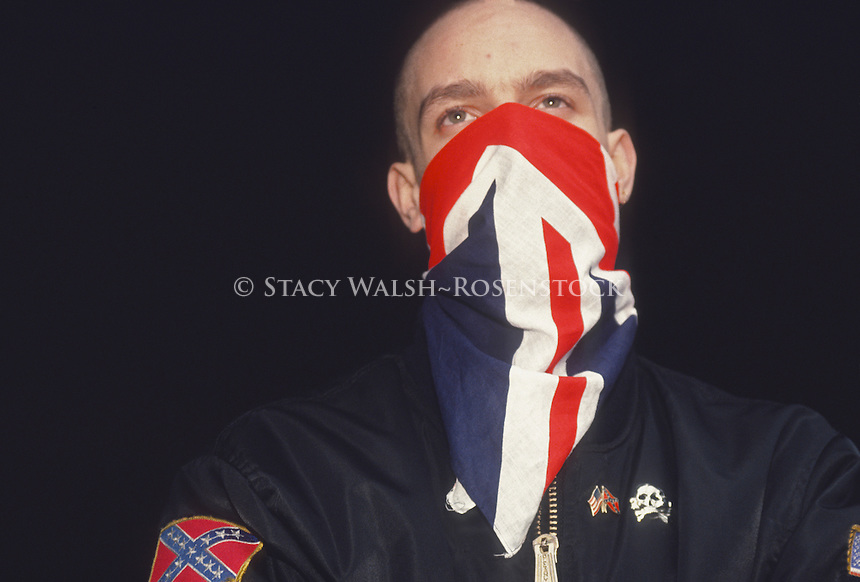 Washington's Crossing, PA Skinhead at the US Nationalists Party rally