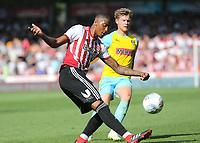 Ezri Konsa of Brentford kicks the ball upfield during Brentford vs Rotherham United, Sky Bet EFL Championship Football at Griffin Park on 4th August 2018