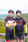 Colin Lacey and his son on the road to Caherdaniel during their Ring of Kerry cycle on Saturday morning