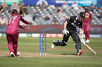 Fabian Allen (West Indies) can't quite direct the ball to the stumps to effect a run out during West Indies vs New Zealand, ICC World Cup Warm-Up Match Cricket at the Bristol County Ground on 28th May 2019