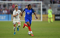 Orlando City, FL - Wednesday March 07, 2018: Kaiiatou Diani during a 2018 SheBelieves Cup match between the women's national teams of Germany (GER) and France (FRA) at Orlando City Stadium.