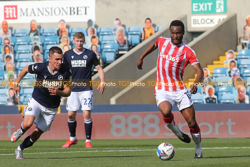 John Obi Mikel of Stoke City and formerly Chelsea in action during Millwall vs Stoke City, Sky Bet EFL Championship Football at The Den on 12th September 2020