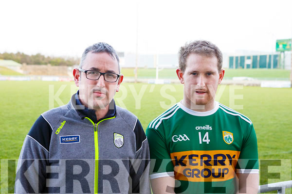 Fintan O'Connor (Kerry Hurling manager) and Padraig Boyle (Ballyduff) Kerry senior hurling captain for 2018
