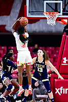 College Park, MD - NOV 29, 2017: Maryland Terrapins guard Kaila Charles (5) hits a three pointer during ACC/Big Ten Challenge game between Gerogia Tech and the No. 7 ranked Maryland Terrapins. Maryland defeated The Yellow Jackets 67-54 at the XFINITY Center in College Park, MD.  (Photo by Phil Peters/Media Images International)