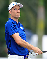 Ross Fisher (Europe) on the 2nd tee during the Singles Matches of the Eurasia Cup at Glenmarie Golf and Country Club on the Sunday 14th January 2018.<br /> Picture:  Thos Caffrey / www.golffile.ie