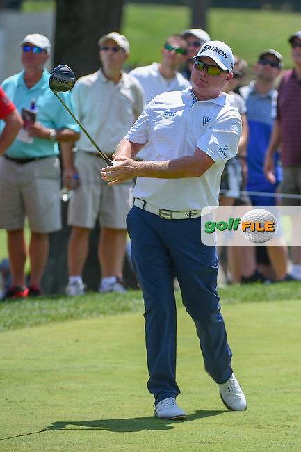 Ted Potter, Jr. (USA) watches his tee shot on 8 during 3rd round of the World Golf Championships - Bridgestone Invitational, at the Firestone Country Club, Akron, Ohio. 8/4/2018.<br /> Picture: Golffile | Ken Murray<br /> <br /> <br /> All photo usage must carry mandatory copyright credit (© Golffile | Ken Murray)