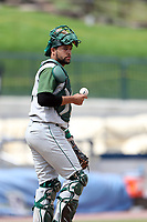 Fort Wayne TinCaps catcher Webster Rivas (8) at the mound against the West Michigan Michigan Whitecaps during the Midwest League baseball game on April 26, 2017 at Fifth Third Ballpark in Comstock Park, Michigan. West Michigan defeated Fort Wayne 8-2. (Andrew Woolley/Four Seam Images via AP Images)