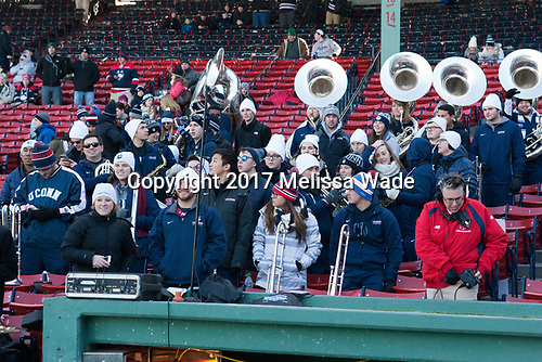 UConn pep band - The University of Maine Black Bears defeated the University of Connecticut Huskies 4-0 at Fenway Park on Saturday, January 14, 2017, in Boston, Massachusetts.