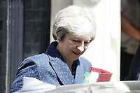 Prime Minister Theresa May leaves Downing Street for question timeThe Treasury select committee session on the UK's economic relationship with the EU after Brexit with evidence from the ports of Calais, Zeebrugge and Eurotunnel.<br /> London, England, UK on June 06, 2018.<br /> CAP/GOL<br /> &copy;GOL/Capital Pictures