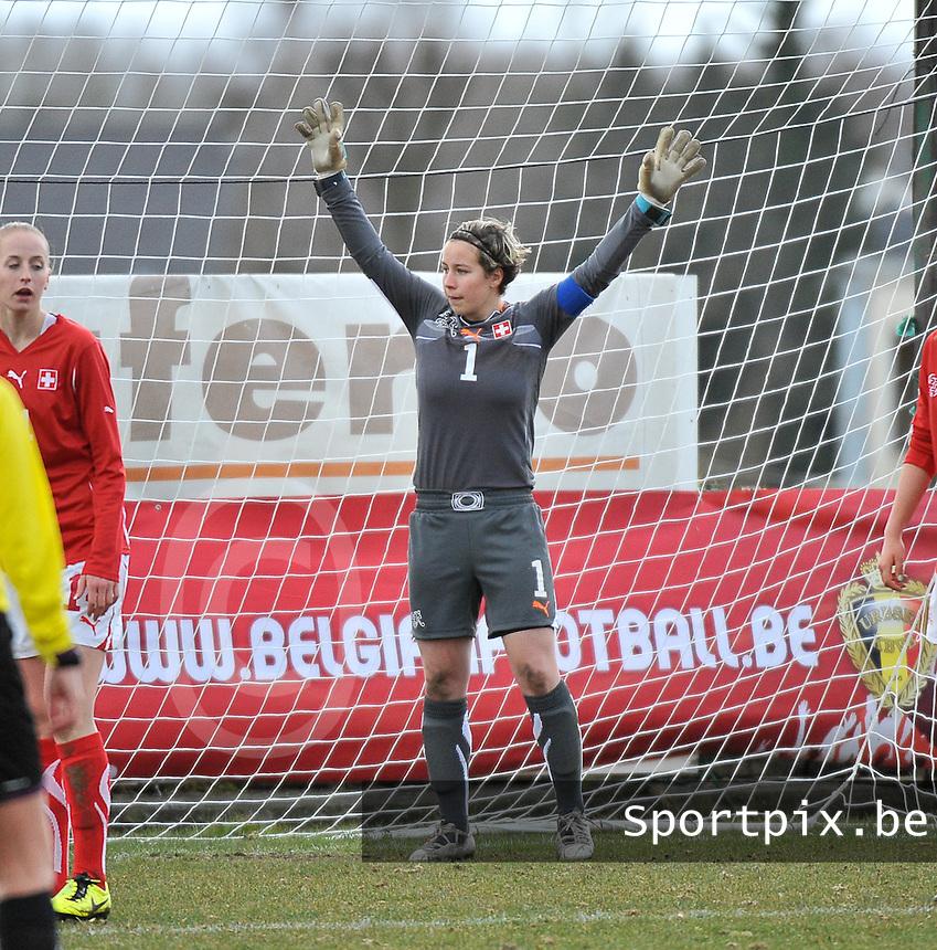 Switzerland U19 - France U19 : Nadine Böni (GK) (C).foto DAVID CATRY / Nikonpro.be