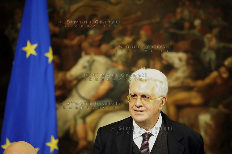Roma, 29 Novembre 2011.Palzzo Chigi.Governo Monti, il giuramento dei viceministri e sottosegretari