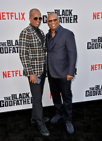 "LOS ANGELES, USA. June 04, 2019: Byron Phillips & Reginald Hudlin at the premiere for ""The Black Godfather"" at Paramount Theatre.<br /> Picture: Paul Smith/Featureflash"
