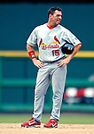 5 August 2007: St. Louis Cardinals outfielder Jim Edmonds stands at second base during a time-out from the action against the Washington Nationals at RFK Stadium in Washington, DC. The Nationals defeated the Cardinals 6-3 to sweep their 3-game series...Mandatory Photo Credit: Ed Wolfstein Photo