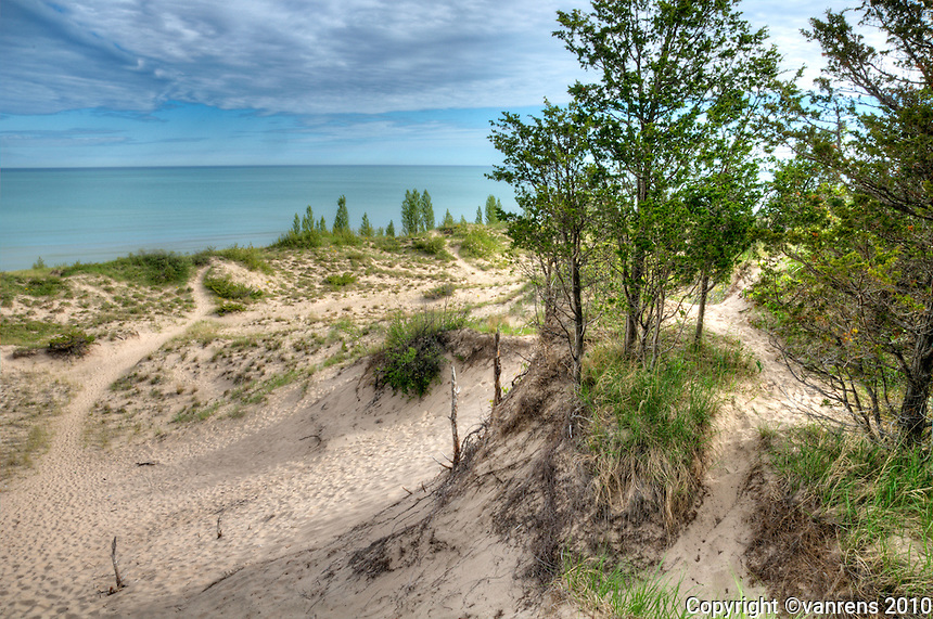 Pinery Provencial Park, Ont. Canada. Lake Huron,  Dune section 1 Premium Camp site 78