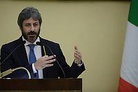 Roberto Fico incontra la stampa parlamentare