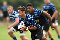 Jackson Willison of Bath Rugby in action against the visiting Dragons team. Bath Rugby pre-season training on August 8, 2018 at Farleigh House in Bath, England. Photo by: Patrick Khachfe / Onside Images