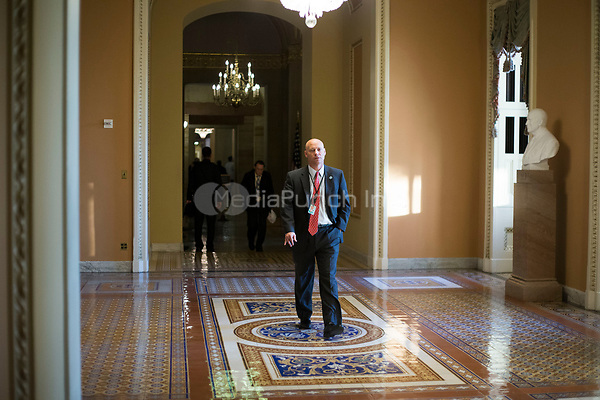 White House Legislative Director Marc Short walks near the Senate Chamber in the US Capitol in Washington, D.C. on Friday, December 1, 2017. <br /> Credit: Alex Edelman / CNP /MediaPunch