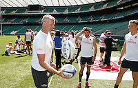 Photo: Richard Lane/Richard Lane Photography. .Emirates Airline Media training day with the England Sevens team at Twickenham. 13/05/2011. England Sevens' Richard Wegrzyk (masseur).