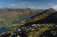 Loch Leven and the Mamores from the summit of Sgorr na Ciche (Pap of Glencoe) above Glencoe, Highlands<br /> <br /> Copyright www.scottishhorizons.co.uk/Keith Fergus 2011 All Rights Reserved