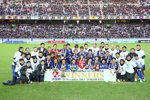 Gamba Osaka team group, <br /> DECEMBER 13, 2014 - Football /Soccer : <br /> The 94th Emperor's Cup All Japan Football Championship <br /> Final <br /> between Gamba Osaka - Montedio Yamagata<br /> at Nissan Stadium, Tokyo, Japan. <br /> (Photo by Yohei Osada/AFLO SPORT) [1156]