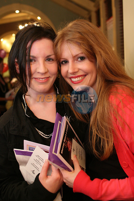 Sheena Duffy and Lorraine Keegan at the Daffodil Day Fashion Show in the Westcourt Hotel...Photo NEWSFILE/Jenny Matthews.(Photo credit should read Jenny Matthews/NEWSFILE)....This Picture has been sent you under the condtions enclosed by:.Newsfile Ltd..The Studio,.Millmount Abbey,.Drogheda,.Co Meath..Ireland..Tel: +353(0)41-9871240.Fax: +353(0)41-9871260.GSM: +353(0)86-2500958.email: pictures@newsfile.ie.www.newsfile.ie.FTP: 193.120.102.198.