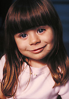 Close-up of three-year-old girl. Birmingham Alabama United States.