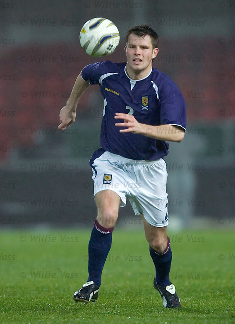 Andy Dowie, Scotland u21.stock season 2004-2005.pic willie vass
