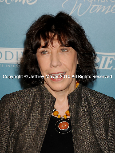 BEVERLY HILLS, CA. - September 30: Lily Tomlin arrives at Variety's 2nd Annual Power Of Women Luncheon at The Beverly Hills Hotel on September 30, 2010 in Beverly Hills, California.