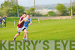 John O'Mahony Firis trying to catch upwith Kevin O'Shea(Dromis Pearese) in the munster junior championship in Farranfore on Saturday..