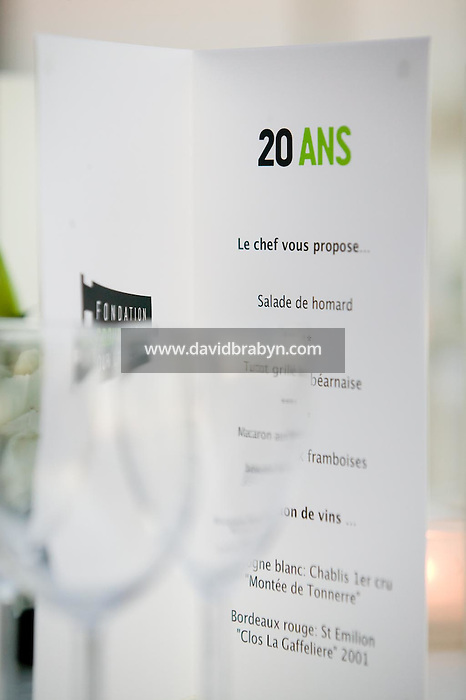Diner, 20 ans de la Fondation Groupama-Gan pour le Cinema, Cannes, France, 18 mai 2007.
