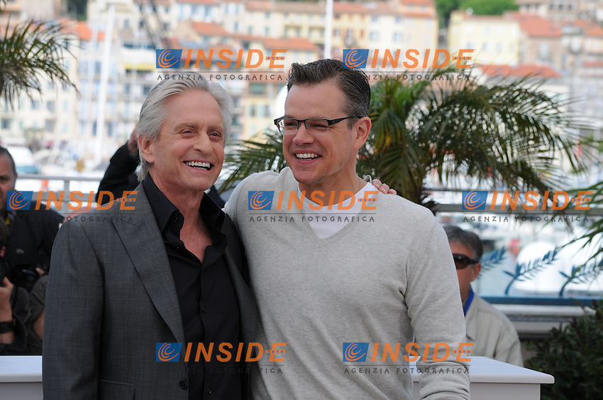 Matt Damon ; Michael Douglas .Cannes 21/5/2013 .Festival del Cinema di Cannes .Foto Panoramic / Insidefoto .ITALY ONLY