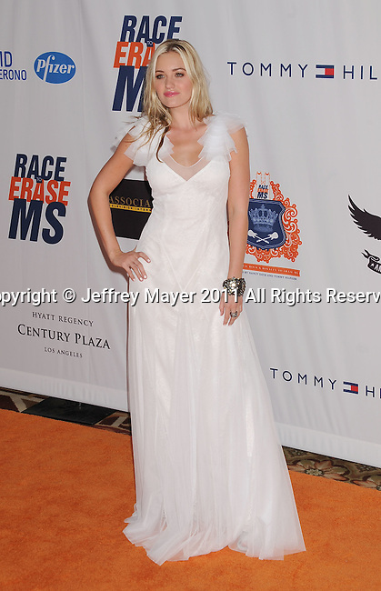 CENTURY CITY, CA - APRIL 29: AJ Michalka arrives at the 18th Annual Race To Erase MS at the Hyatt Regency Century Plaza on April 29, 2011 in Century City, California.