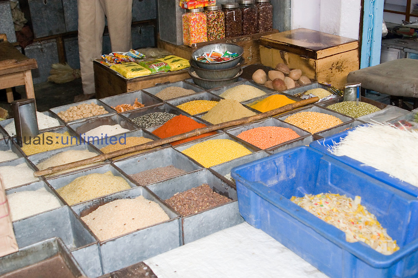 Spices for sale, Clock Tower Public Market, Jophpur, India