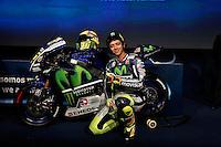 Movistar Yamaha MotoGP host 2015 team launch in Madrid. In the pic:  Valentino Rossi. January 28, 2015. (ALTERPHOTOS/Caro Marin) /nortephoto.com<br /> nortephoto.com