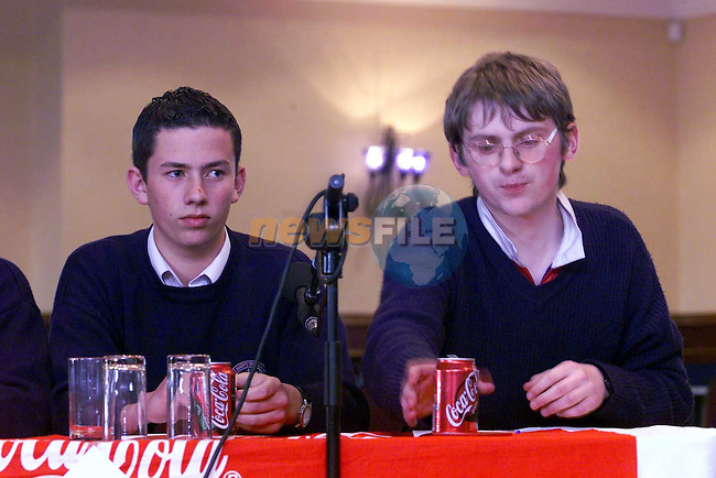 interesting times as St Marys and St Olivers battle it out in the final of the Droghed Concentrates LMFM schools Quiz.Picture Fran Caffrey Newsfile
