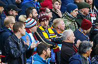 Burnley fans watch on during the first half<br /> <br /> Photographer Alex Dodd/CameraSport<br /> <br /> The Premier League - Burnley v West Ham United - Sunday 30th December 2018 - Turf Moor - Burnley<br /> <br /> World Copyright © 2018 CameraSport. All rights reserved. 43 Linden Ave. Countesthorpe. Leicester. England. LE8 5PG - Tel: +44 (0) 116 277 4147 - admin@camerasport.com - www.camerasport.com