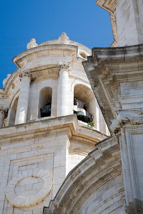 Detail from the baroque and neoclassical Cathedral of Cadiz, Spain