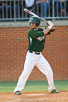 Derek Gallello (41) of the Charlotte 49ers at bat against the Virginia Commonwealth Rams at Robert and Mariam Hayes Stadium on March 30, 2013 in Charlotte, North Carolina.  The Rams defeated the 49ers 4-3 in game two of a double-header.  (Brian Westerholt/Four Seam Images)