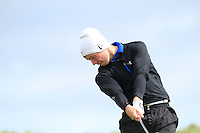 Daniel Brennan (Shannon) on the 14th tee during Round 3 of The Irish Amateur Open Championship in The Royal Dublin Golf Club on Saturday 10th May 2014.<br /> Picture:  Thos Caffrey / www.golffile.ie