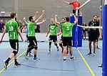 2015-10-24 / Volleybal / Seizoen 2015-2016 / Vosselaar - Mendo Booischot / svbo / Mendo viert een punt<br /><br />Foto: Mpics.be