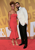 www.acepixs.com<br /> <br /> June 26, 2017 New York City<br /> <br /> Rosalyn Gold-Onwude (L) and Drake attending the 2017 NBA Awards live on TNT on June 26, 2017 in New York City.<br /> <br /> By Line: Nancy Rivera/ACE Pictures<br /> <br /> <br /> ACE Pictures Inc<br /> Tel: 6467670430<br /> Email: info@acepixs.com<br /> www.acepixs.com