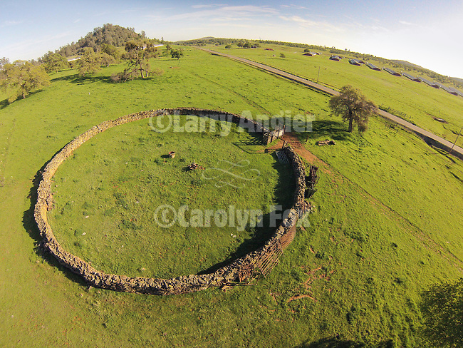 Crimea stone corral (round corral) near the Red Hills, Tuolumne County, Calif.