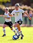 31 August 2007: University of Vermont Catamounts defender Erin Pichiotino, a Junior  from Burlington, VT, in action against the University of Central Arkansas Sugar Bears at Historic Centennial Field in Burlington, Vermont. The Catamounts defeated the Sugar Bears 1-0 during the TD Banknorth Soccer Classic...Mandatory Photo Credit: Ed Wolfstein Photo