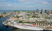 EUS- Tampa Downtown Skyline Aerials, Tampa FL 6 15