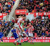 4th November 2017, bet365 Stadium, Stoke-on-Trent, England; EPL Premier League football, Stoke City versus Leicester City; Erik Pieters of Stoke City makes a defensive clearance