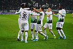01.12.2019, Borussia Park , Moenchengladbach, GER, 1. FBL,  Borussia Moenchengladbach vs. SC Freiburg,<br />  <br /> DFL regulations prohibit any use of photographs as image sequences and/or quasi-video<br /> <br /> im Bild / picture shows: <br /> Torjubel / Jubel / Jubellauf,    3:1 Denis Zakaria (Gladbach #8), Breel Embolo (Gladbach #36),  Stefan Lainer (Gladbach #18), Patrick Herrmann (Gladbach #7),   Laszlo Benes (Gladbach #22), Marcus Thuram (Gladbach #10),  <br /> <br /> Foto © nordphoto / Meuter
